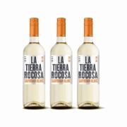 Kit 3x Vinho Branco Chileno La Tierra Rocosa Sauvignon Blanc 2020