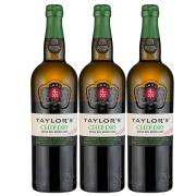 Kit 3x Vinho do Porto Branco Chip Dry Taylor's 750ml