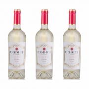 Kit 3x Vinho Italiano Branco Codici Fiano Puglia 2019