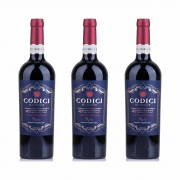 Kit 3x Vinho Italiano Tinto Codici Negroamaro Puglia 2019