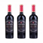 Kit 3x Vinho Italiano Tinto Primitivo Puglia Codici IGT 2019