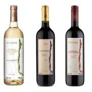 Kit 3x Vinho Tinto/Branco Chileno Baron Philippe de Rothschild Reserva Carmenere, Cabernet Sauvignon e Chardonnay 2019