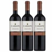 Kit 3x Vinho Tinto Chileno Carmen Insigne Carmenere 2018