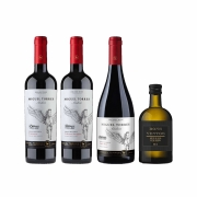 Kit 3x Vinho Tinto Chileno Orgânico Miguel Torres Cabernet Sauvignon, Carmenere e Pinot Noir + Azeite 2019