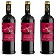 Kit 3x Vinho Tinto Espanhol Benedictum lll Gran Reserva 8 Anos 2010 750ml