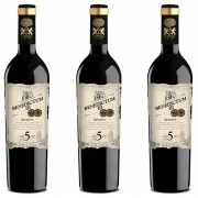 Kit 3x Vinho Tinto Espanhol Benedictum lll Reserva 5 Anos 2013 750ml
