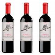 Kit 3x Vinho Tinto Espanhol Benedictum Tempranillo 2019
