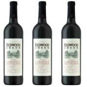 Kit 3x Vinho Tinto Estadunidense Redwood Creek Cabernet Sauvignon 2019 750ml