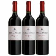 Kit 3x Vinho Tinto Francês Château Tour Du Moulin Les Terres Fronsac 2014