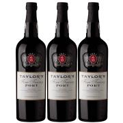Kit 3x Vinho Tinto Português Do Porto Taylors Fine Tawny