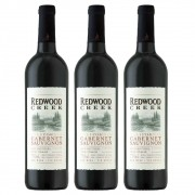 Kit 3x Vinho Tinto USA Redwood Creek Cabernet Sauvignon 2018