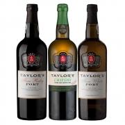 Kit 3x Vinhos do Porto Taylor's Ruby/White/Chip Dry