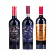 Kit 3x Vinhos Italianos Tinto Primitivo/Negroamaro Puglia/Di Manduria IGT Codici