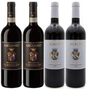 Kit 4 Vinho Tinto Italiano NC Toscana/Brunello Argiano 18/16