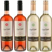 Kit 4 Vinhos Chileno Casas Del Toqui Branco e Rosé