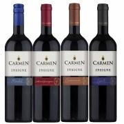 Kit 4 Vinhos Chilenos Carmen Insigne Syrah, Merlot, Cabernet e Carmenere