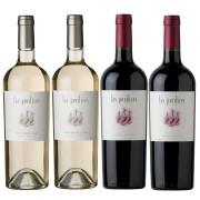 Kit 4x Vinho Argentino Las Perdices Malbec/Pinot Grigio