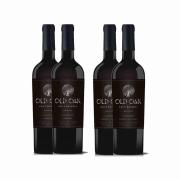 Kit 4x Vinho Tinto Chileno Old Oak Gran Reserve Cabernet Sauvignon/Carmenere 2018