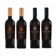 Kit 4x Vinho Tinto Chileno Old Oak Gran/Special Reserve Cabernet Sauvignon/Carmenere 2018