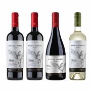 Kit 4x Vinho Tinto Chileno Orgânico Miguel Torres Cabernet Sauvignon, Carmenere, Pinot Noir e Sauvignon Blanc 2019