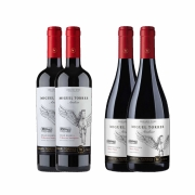 Kit 4x Vinho Tinto Chileno Orgânico Miguel Torres Cabernet Sauvignon e Pinot Noir 2019