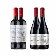 Kit 4x Vinho Tinto Chileno Orgânico Miguel Torres Carmenere e Pinot Noir 2019