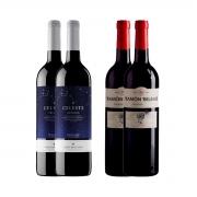 Kit 4x Vinho Tinto Espanhol Torres Celeste/Ramon Bilbao Crianza 750ml