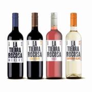 Kit 4x Vinho Tinto/Rosé/Branco Chileno La Tierra Rocosa Camenere/Merlot/Sauvignon Blanc/Cabernet Sauvignon