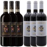Kit 6 Vinho Tinto Italiano NC Toscana/Brunello Argiano 18/16