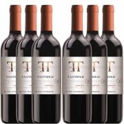 Kit 6 Vinhos Chileno Tinto Tantehue Carmenere 750ml 2019