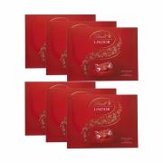 Kit 6x Caixa de Chocolates Lindt Lindor Balls Vermelho 300g