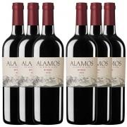 Kit 6x Vinho Argentino Tinto Alamos Syrah 2018 Catena Zapata