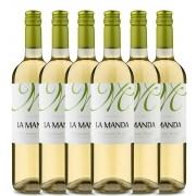 Kit 6x Vinho Branco Chileno La Manda Sauvignon Blanc 2019