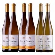 Kit 6x Vinho Branco Português Vila Nova Vinho Verde Blend, Loureiro e Alvarinho 750ml