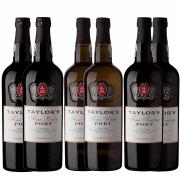 Kit 6x Vinho do Porto Taylor's White Fine + Tawny + Ruby
