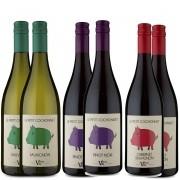 Kit 6x Vinho Francês Le Petit Cochonnet Cabernet + Pinot Noir + Sauvignon Blanc