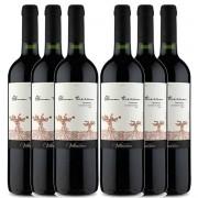 Kit 6x Vinho Tinto Chileno Alma Tierra Carmenere 2019