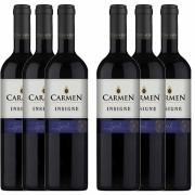 Kit 6x Vinho Tinto Chileno Carmen Insigne Syrah 2018 750ml