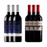 Kit 6x Vinho Tinto Espanhol Torres Celeste/Ramon Bilbao Crianza 750ml