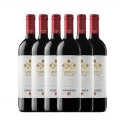 Kit 6x Vinho Tinto Espanhol Torres Coronas Tempranillo 750ml 2018