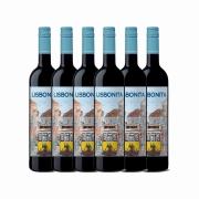 Kit 6x Vinho Tinto Português Casa Santos Lima Lisbonita 2018
