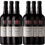 Kit 6x Vinho Tinto Português Do Porto Taylors Fine Tawny