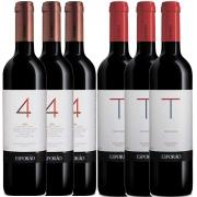 Kit 6x Vinhos: 3x Esporão 4 Castas e 3x Trincadeira Portugal