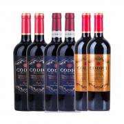 Kit 6x Vinhos Italianos Tinto Primitivo/Negroamaro Puglia/Di Manduria IGT Codici