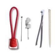 Kit Minichave + Lanyard vermelho + Pinça G Victorinox + Palito G + alfinete Original