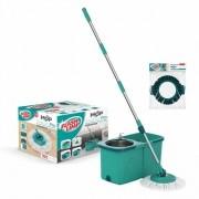 Kit Mop pro + Refil Limpeza Pesada Flashlimp