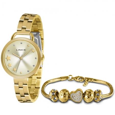 Kit Relógio Lince Feminino + Pulseira LRGH152LKY53C1KX