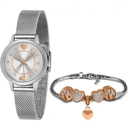 Kit Relógio Lince Feminino + Pulseira LRMH149LKZ08S1SX