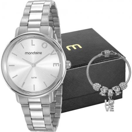 Kit Relógio Mondaine Feminino + Pulseira 53761L0MKNE3K1