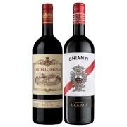 Kit Toscana 2 Vinho Chianti Ricasoli/Chianti Classico Brolio
